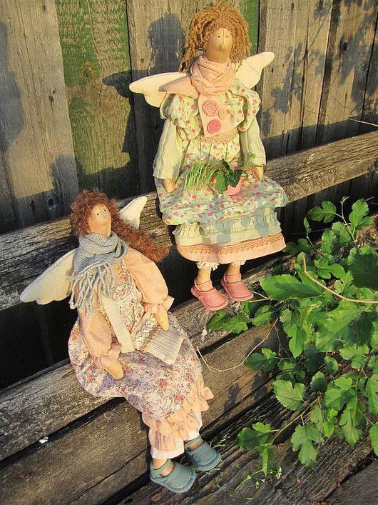 Куклы Тильды ручной работы. Ярмарка Мастеров - ручная работа. Купить Феечки в стиле  бохо. Handmade. Фея, хлопок
