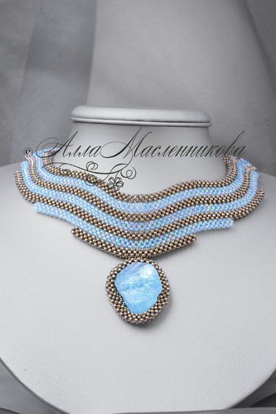 Necklace Tear of Joy with aquamarine, Necklace, Moscow,  Фото №1