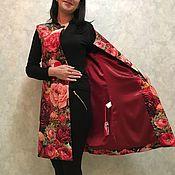 Одежда ручной работы. Ярмарка Мастеров - ручная работа Жилет Розовый сад. Handmade.