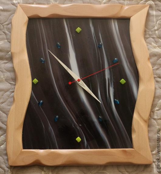 Часы для дома ручной работы. Ярмарка Мастеров - ручная работа. Купить Настенные часы. Handmade. Разноцветный, подарок