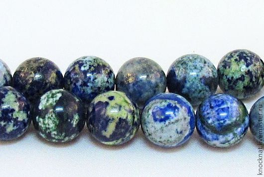 Для украшений ручной работы. Ярмарка Мастеров - ручная работа. Купить Бусина хризоколла шар (очень красивая). Handmade.