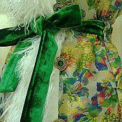 """Одежда ручной работы. Ярмарка Мастеров - ручная работа Жилет """"Изумруды и золото"""". Handmade."""