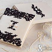 """Свадебный салон ручной работы. Ярмарка Мастеров - ручная работа Свадебный альбом в коробке """" Ежевика"""". Handmade."""