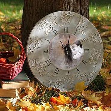 """Для дома и интерьера ручной работы. Ярмарка Мастеров - ручная работа Часы """"Осенний поцелуй"""". Handmade."""