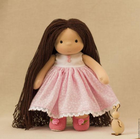 Вальдорфская игрушка ручной работы. Ярмарка Мастеров - ручная работа. Купить Кукла для Милаши, 31 см. Handmade. Розовый