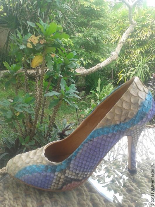 Обувь ручной работы. Ярмарка Мастеров - ручная работа. Купить Туфли из кожи питона Randevu. Handmade. Туфли, кожаные туфли