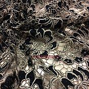 Кружевное полотно плетеное, 135 см, бежевый