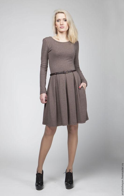 """Платья ручной работы. Ярмарка Мастеров - ручная работа. Купить Платье """"MOCCO"""". Handmade. Коричневый, платье женское, платье коричневое"""