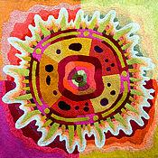Картины и панно handmade. Livemaster - original item Embroidery.Solar wind. Handmade.