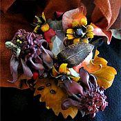 """Украшения ручной работы. Ярмарка Мастеров - ручная работа Брошь """"Осенний фокстрот"""". Handmade."""