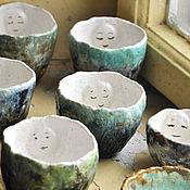 Посуда ручной работы. Ярмарка Мастеров - ручная работа чайные лица - импрессионисты. Handmade.