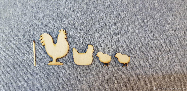 Набор Петух, курочка, цыплята, Декор для декупажа и росписи, Москва,  Фото №1