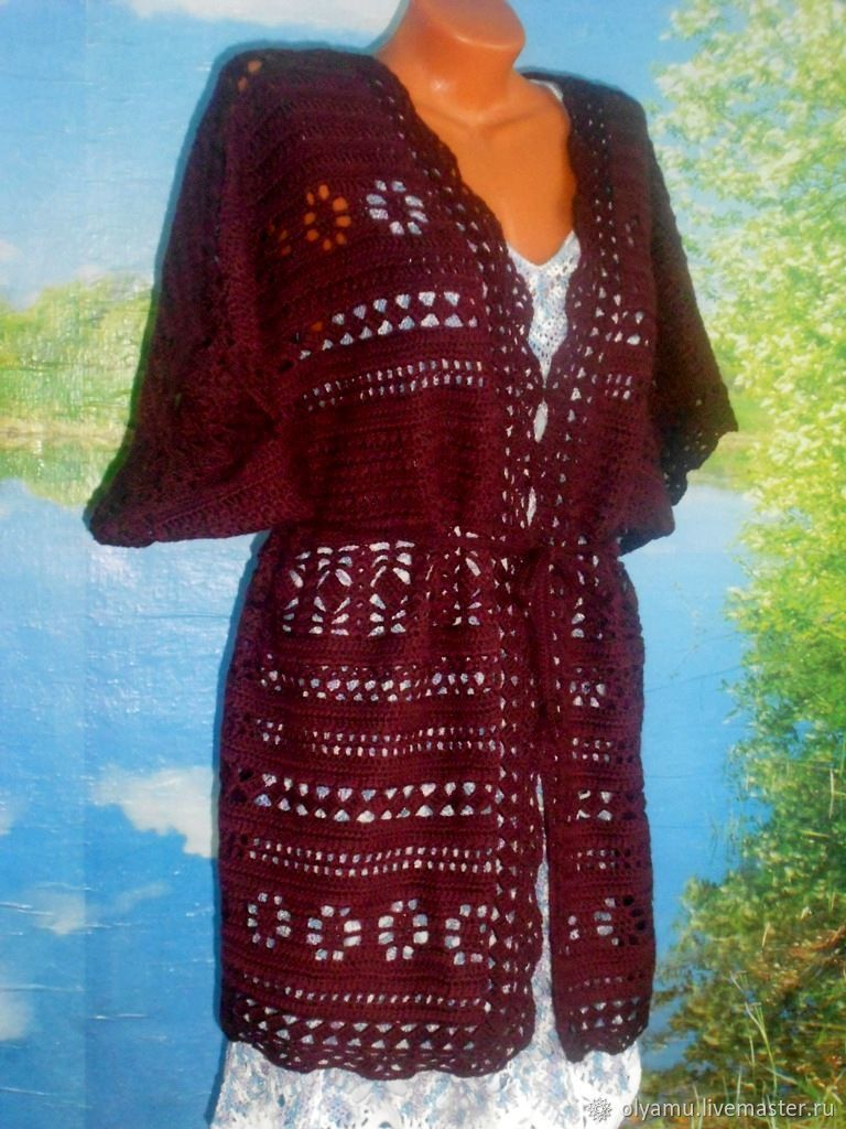 Cardigans handmade. Livemaster - handmade. Buy Cardigan 'a Glass of red wine'/Author. slave.Exclusive, burgundy, coat knitted