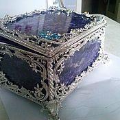 Для дома и интерьера handmade. Livemaster - original item The box in Faberge. Handmade.