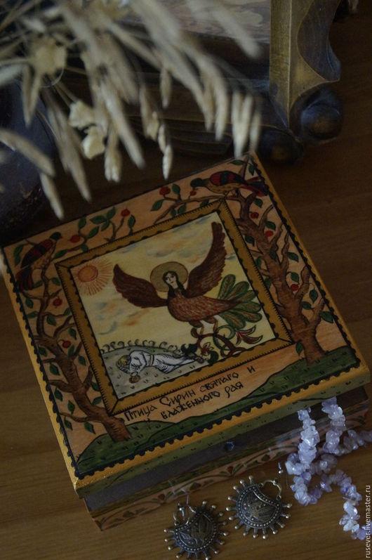 """Быт ручной работы. Ярмарка Мастеров - ручная работа. Купить Шкатулка """"Птица Сирин святаго и блаженного рая"""". Handmade. Комбинированный"""