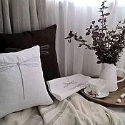Подушки ручной работы. Ярмарка Мастеров - ручная работа Декоративная льняная подушка Стрекоза. Наволочка льняная. Handmade.