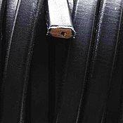 Материалы для творчества ручной работы. Ярмарка Мастеров - ручная работа Шнур регализ с отверстием, черный, 10х7мм. Испания. Handmade.