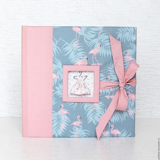 """Фотоальбомы ручной работы. Ярмарка Мастеров - ручная работа. Купить Альбом """"Розовый фламинго"""". Handmade. Розовый, хлопок 100%"""