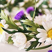 """Свадебный салон ручной работы. Ярмарка Мастеров - ручная работа Свадебный венок """"Scottish Wedding"""".Цветы из шелка, венок с цветами.. Handmade."""