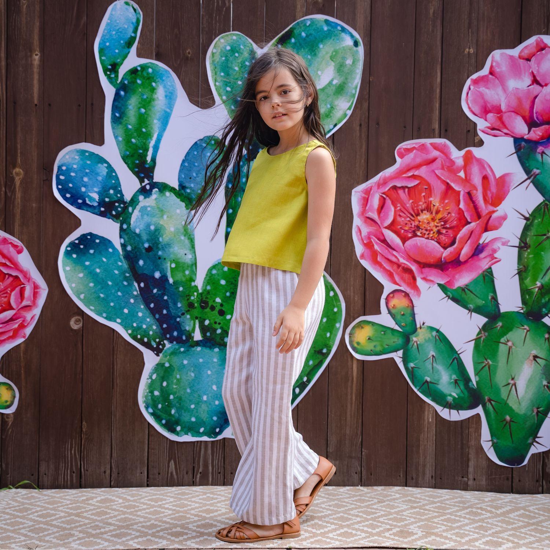 Костюм «Салатовый+полоска», Одежда для девочек, Орск, Фото №1