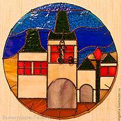 Для дома и интерьера ручной работы. Ярмарка Мастеров - ручная работа Витражные настенные часы Прага. Handmade.