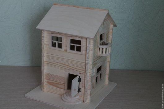 Кукольный дом ручной работы. Ярмарка Мастеров - ручная работа. Купить Домик для интерьера и игр.. Handmade. Бежевый, дерево