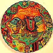"""Тарелки ручной работы. Ярмарка Мастеров - ручная работа Декоративная тарелка """"Скоро начнется праздник"""". Handmade."""
