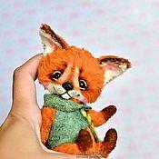 Куклы и игрушки ручной работы. Ярмарка Мастеров - ручная работа Лисенок  fox pup тедди лис, коллекционная игрушка. Handmade.
