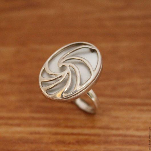 Кольца ручной работы. Ярмарка Мастеров - ручная работа. Купить Серебряное кольцо Водоворот, серебро 925. Handmade. Серебряный