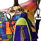 """Женские сумки ручной работы. Сумка № 29 """"Арабы"""". ANTE-KOVAC (ante-kovac). Ярмарка Мастеров. Разноцветный, кожа"""
