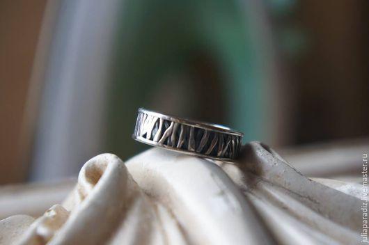 Украшения для мужчин, ручной работы. Ярмарка Мастеров - ручная работа. Купить Мужское кольцо 2 - серебро, тонировка.. Handmade. Серебряный