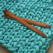 handmade. Livemaster - original item Giant knitting needle for Thick Yarn made of Wood 30mm/400#14. Handmade.