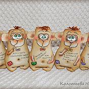 Куклы и игрушки ручной работы. Ярмарка Мастеров - ручная работа Обезьяны кофейные. Handmade.
