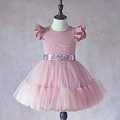 """Платье ручной работы. Ярмарка Мастеров - ручная работа Платье для девочки """"Пудра"""". Handmade."""