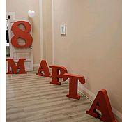 Слова ручной работы. Ярмарка Мастеров - ручная работа Объемные буквы и цифры из пенопласта на мероприятия. Handmade.