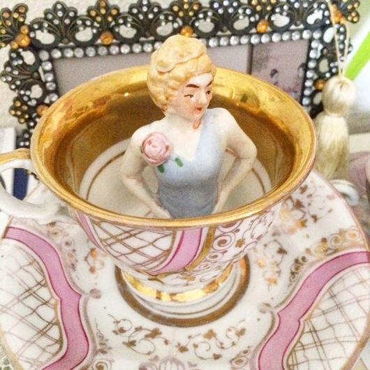 Винтажные предметы интерьера. Ярмарка Мастеров - ручная работа. Купить Антикварная фигурка half doll из костяного фарфора. Handmade. Винтаж