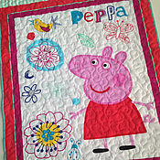 Для дома и интерьера ручной работы. Ярмарка Мастеров - ручная работа PEPPA текстильная панель, принт на ткани.. Handmade.