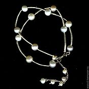 Украшения handmade. Livemaster - original item Bracelet with silver and natural pearls. Handmade.