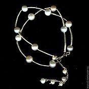 Украшения handmade. Livemaster - original item Bracelet with silver and natural pearls. Handmade.