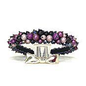 Украшения handmade. Livemaster - original item Rim of beads and stones (agate, pearls of Majorca). Handmade.