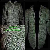 Мужская одежда handmade. Livemaster - original item 80%linen 20%wool or cotton to choose from Windbreaker Pressed jacquard. Handmade.