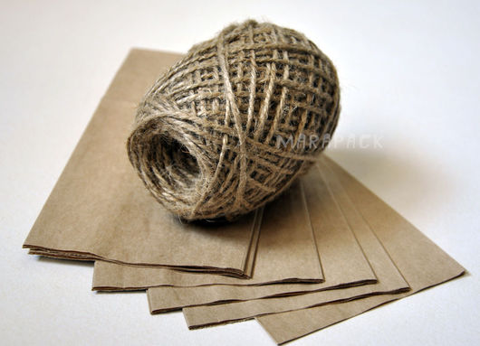 Упаковка ручной работы. Ярмарка Мастеров - ручная работа. Купить Шпагат джутовый, 100 м. Handmade. Коричневый, джут, упаковка