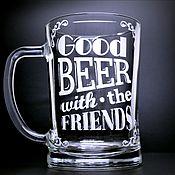 Кружки ручной работы. Ярмарка Мастеров - ручная работа Кружка для пива Goods Beer. Handmade.
