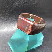 Кольцо-печатка ручной работы. Ярмарка Мастеров - ручная работа Печатка из яшмы 22 размер .. Handmade.