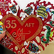 """Картины и панно ручной работы. Ярмарка Мастеров - ручная работа Панно """"Коралловое сердце"""".Стекло. Фьюзинг.. Handmade."""
