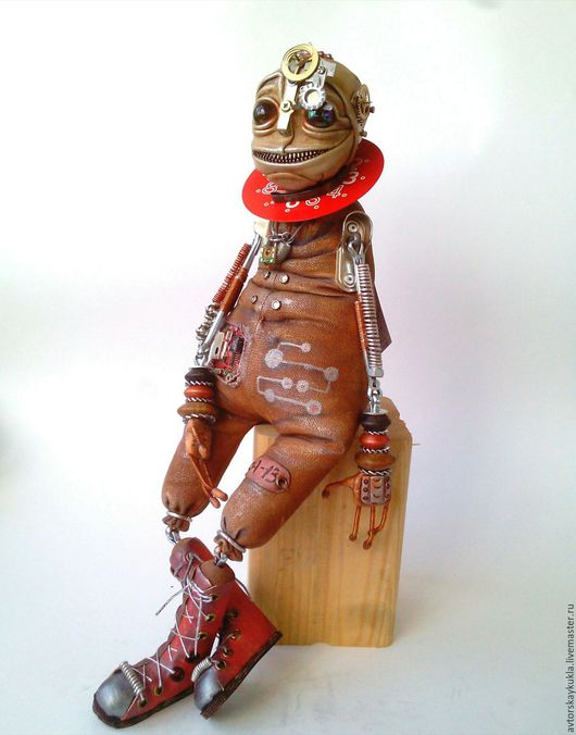 Коллекционные куклы ручной работы. Ярмарка Мастеров - ручная работа. Купить Инопланетный странник.. Handmade. Коричневый, инопланетянин, металл