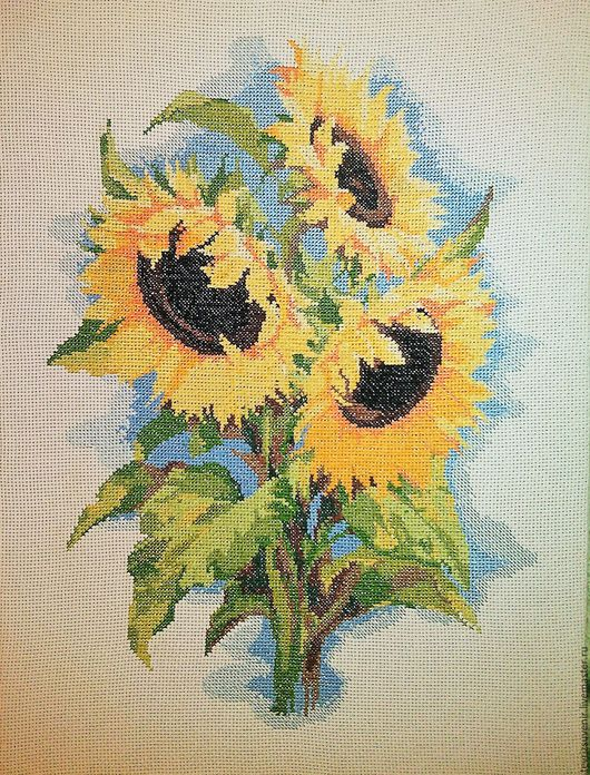 """Картины цветов ручной работы. Ярмарка Мастеров - ручная работа. Купить """"В след за солнцем"""". Handmade. Комбинированный"""