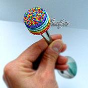 """Посуда ручной работы. Ярмарка Мастеров - ручная работа Вкусная ложечка """"Радужный тортик"""". Handmade."""