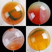 Материалы для творчества ручной работы. Ярмарка Мастеров - ручная работа 6 различных бусин агата 15-16 мм. Handmade.