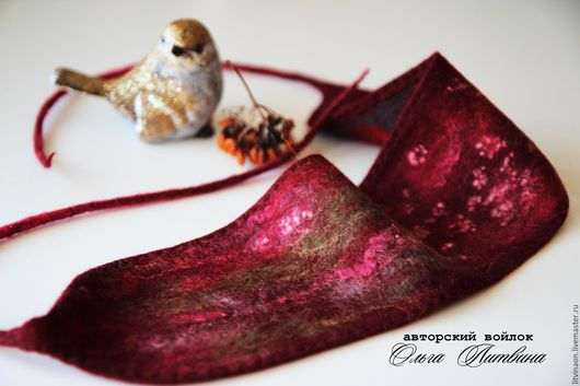 Повязка шерстяная на голову. Ярмарка мастеров - ручная работа. Handmade. Бордовый, марсала, красный войлочная повязка на голову, купить.